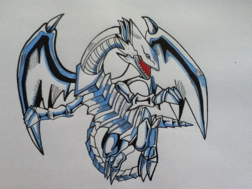 Drawing blue eyes white dragon yu gi oh youtube ccuart Gallery