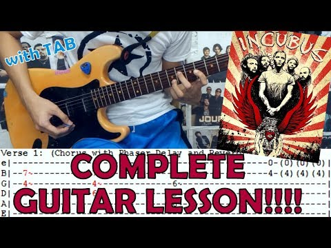 Pardon Me - Incubus(Complete Guitar Lesson/Cover)with Chords and Tab
