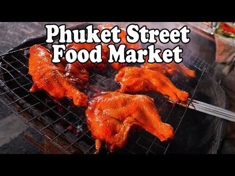 Phuket Street Food: Thai Street Food at a Street Market in Patong Thailand