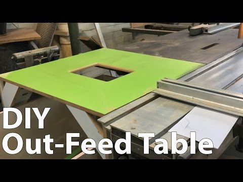 Make a Simple Out-Feed Table With Scrap Solution
