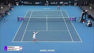 M. Brengle vs. I. Swiatek | 2021 Adelaide Round 1 | WTA Match Highlights