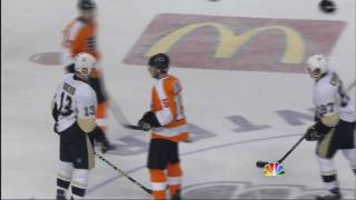Chris Kunitz vs Scott Hartnell Apr 19, 2009