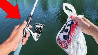 $100 WALMART Fishing Challenge - Rod/Reel Included!