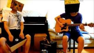 Viva La Vida - Coldplay, Guitar (Finger Style) & Bongo cajon cover