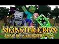 """Minecraft Video 8D Music """"Monster Crew"""" A Minecraft parody of Shape of You By Ed Sheeran"""