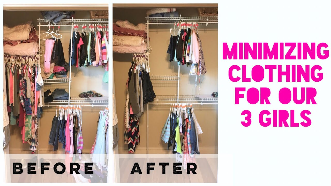 Girls Closet Organization | Closet Organizing Hacks | Becoming Minimalist