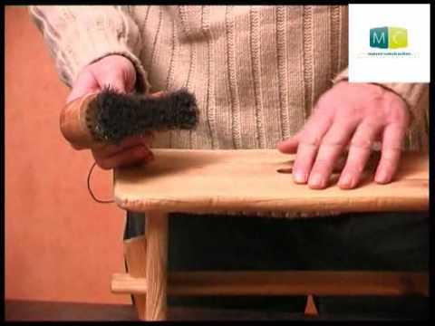 bricolage patine naturelle sur bois diy make a natural. Black Bedroom Furniture Sets. Home Design Ideas