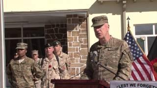 NTM-A Commander delivers Remembrance Day (Veteran