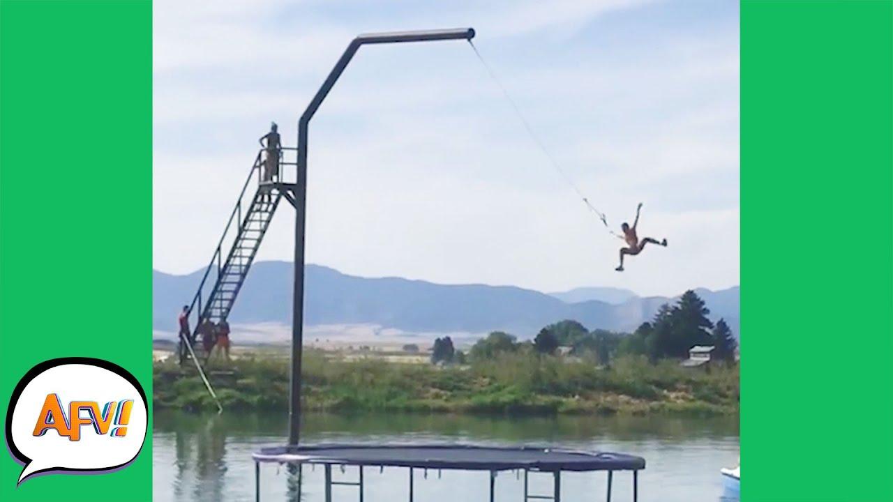Download Big Swing? Bigger FAIL! 😅🤣 | Funny Big Air Fails | AFV 2021
