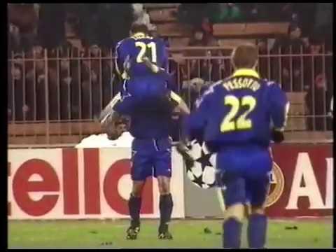 Alessandro Del Piero Juventus 18 03 1998 Dinamo Kiev Ucr 1x4 Juventus 1 Gol Youtube