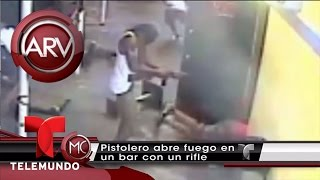 Divulgan video de pistolero en plena balacera   Al Rojo Vivo   Telemundo