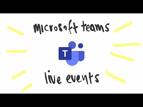 Microsoft Teams Live Events - What Are Live Events?