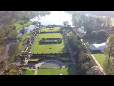 Stunning aerial views of Hever Castle & Gardens in the spring