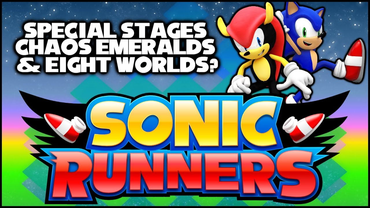 Sonic Runners Special Stages Chaos Emeralds Eight Worlds