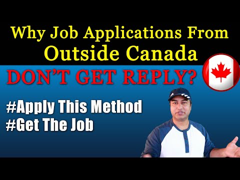 Why Job Applications From OUTSIDE CANADA DON'T GET RESPONSE?
