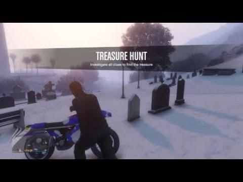 GTA 5  HIDDDEN TREASURE RED dead redemption DOUBLE REVOLVER (GRAVEYARD)
