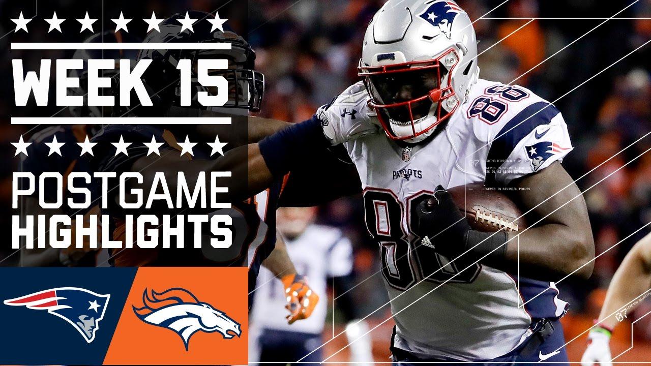 Patriots vs. Broncos  NFL Week 15 Game Highlights