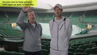 Andy Murray and Kevin Spacey serve up global tiger challenge