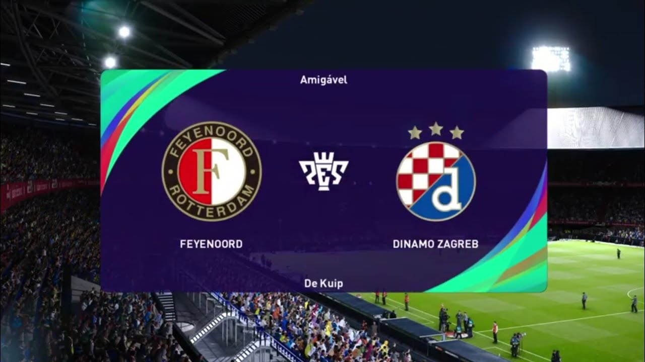 Feyenoord Vs Dinamo Zagreb Pes 21 Uefa Europa League Live Gameplay Youtube