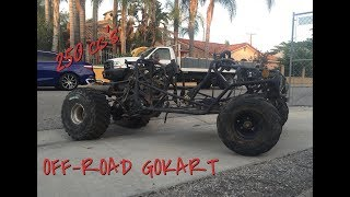 Two Brothers build a crazy Off-road 250cc go kart. Must watch.