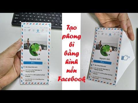 Hướng dẫn làm phong bì bằng ảnh bìa Facebook