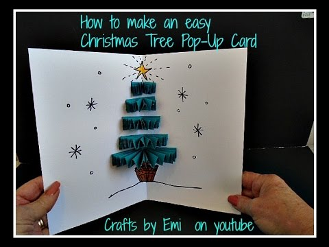 diy 3d easy pop up christmas tree card how to make a greeting card christmas card teacher card youtube