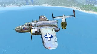 Beamng drive - Strong Wind against Aircrafts