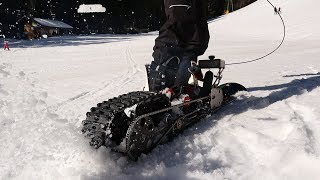 Making of: SNOWBOARD MIT POCKETBIKE-MOTOR