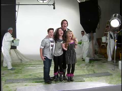 icarly behind the scenes getting slimed youtube