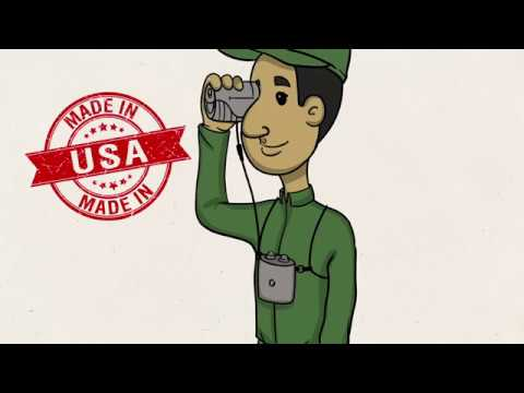 Rick Young Outdoors Ultra Light Bino Harness Cartoon Demo