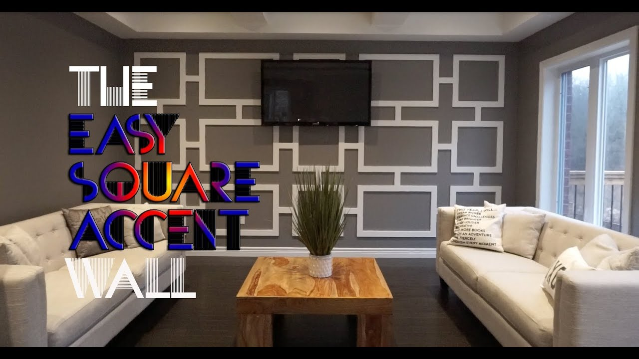 Diy Square Accent Wall For Under 100