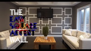DIY Square Accent Wall For Under $100