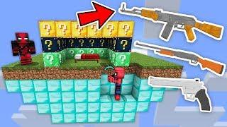 SİLAHLI ŞANS BLOKLARI YATAK SAVAŞLARI CHALLENGE - Minecraft