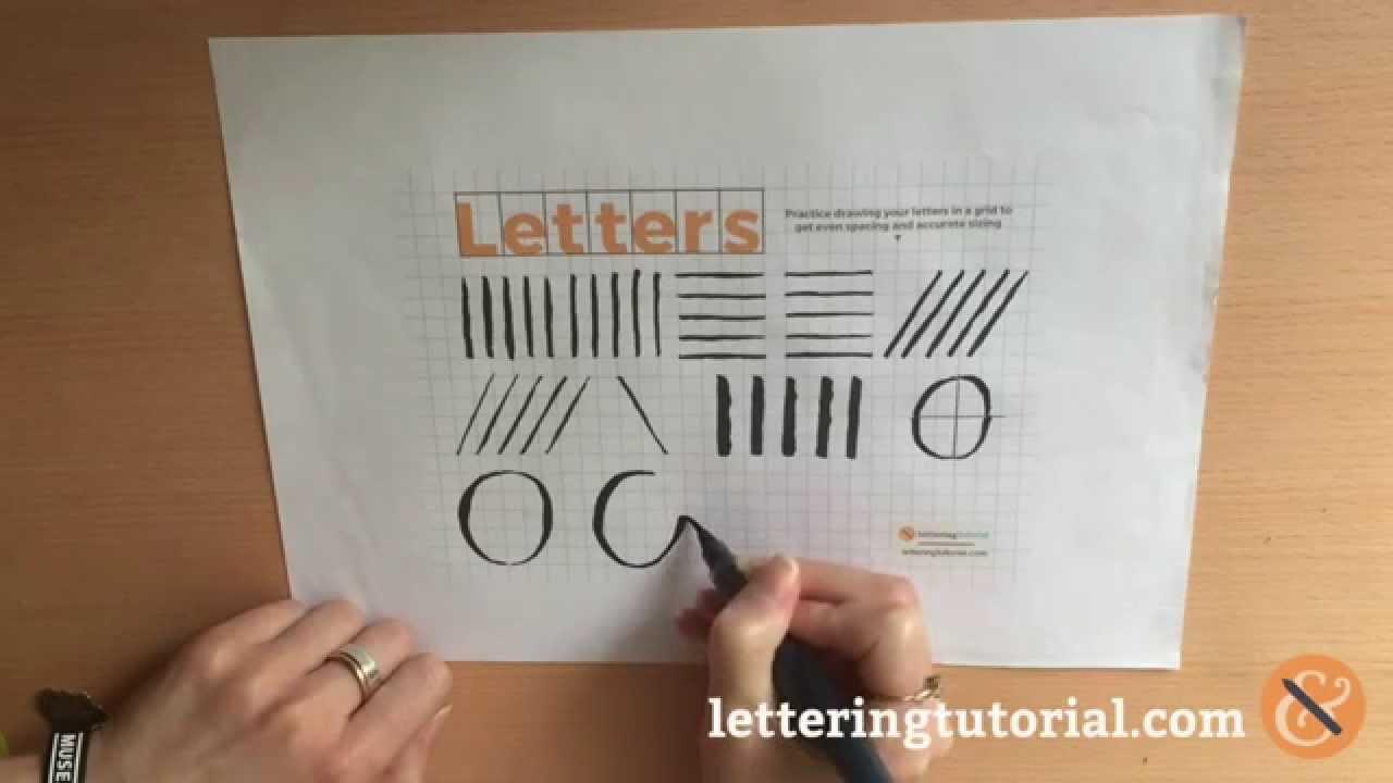 Brush Lettering Techniques Curves