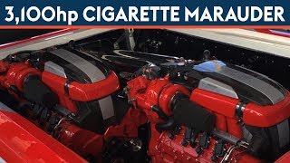 Cigarette Marauder SS - Twin Turbo Twin V8 - 3,100 hp - Start Up, Loud Sound - 2016 Miami Boat Show
