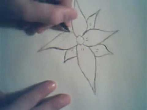 how to draw a flower (simple) - YouTube