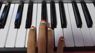 """jana gana mana"" national anthem on keyboard by japanese girl ♪インド国歌 演奏♪"
