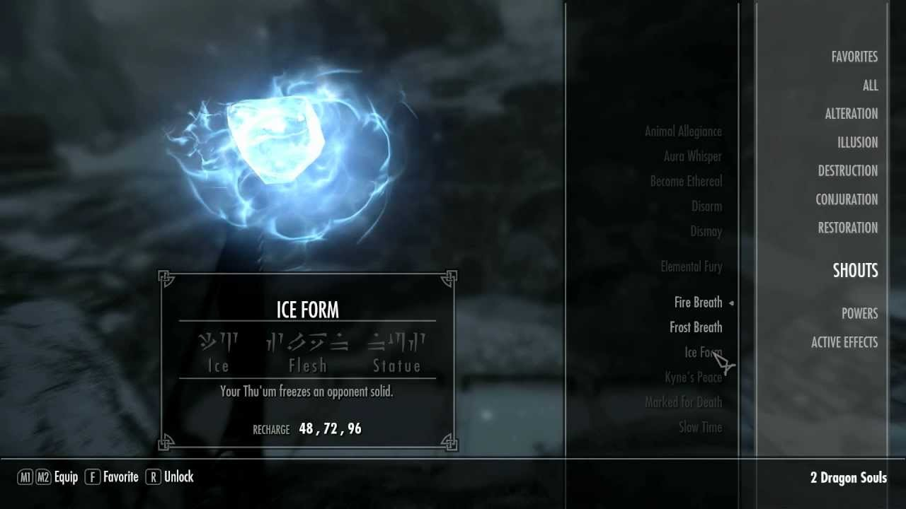 Skyrim Shout Locations Ep. 19- Ice Form (Final Word) - YouTube