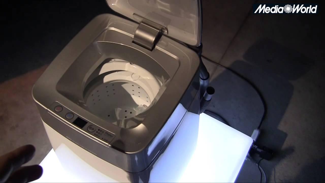 Haier presenta la micro lavatrice youtube for Mini lavatrice