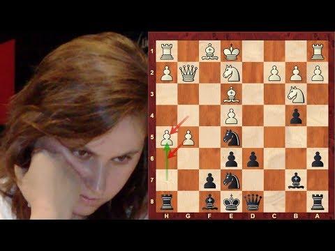 Judit Polgar Amazing Immortal game vs Shirov - Sicilian Defense: Paulsen - Brilliancy!