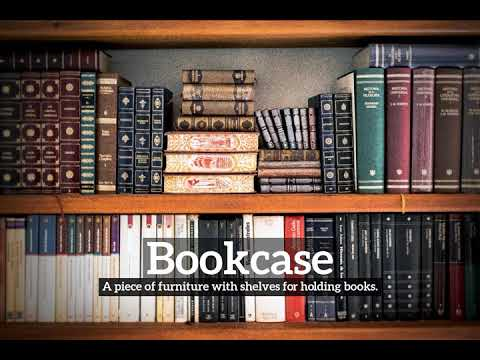 How to say bookcase in spanish