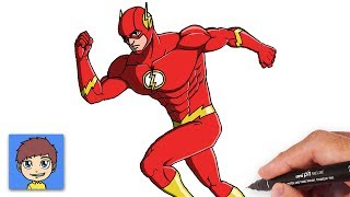 How to Draw The Flash Step by Step - DC Superhero Drawing Easy