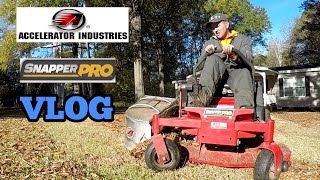 Bagging Leaves With Zero turn Mower on THANKSGIVING? (Lawn care Vlog)