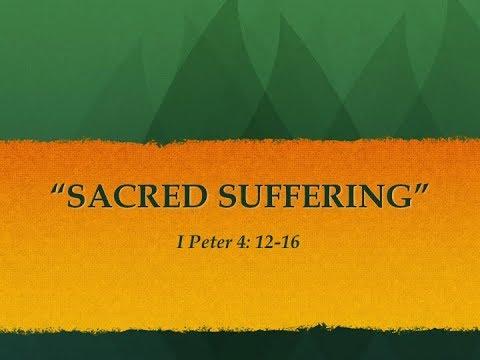 "Pastor Michael Martin - ""Sacred Suffering"" PT 1"