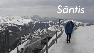 SWITZERLAND: Säntis (2,502 m), mountain in the Alps [HD]