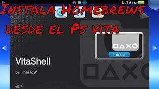 Como Instalar Homebrews desde la Psvita usando VitaShell 0.7