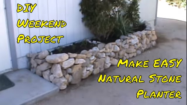 Building The Raised Dry Stone Rock Planter Diy Youtube