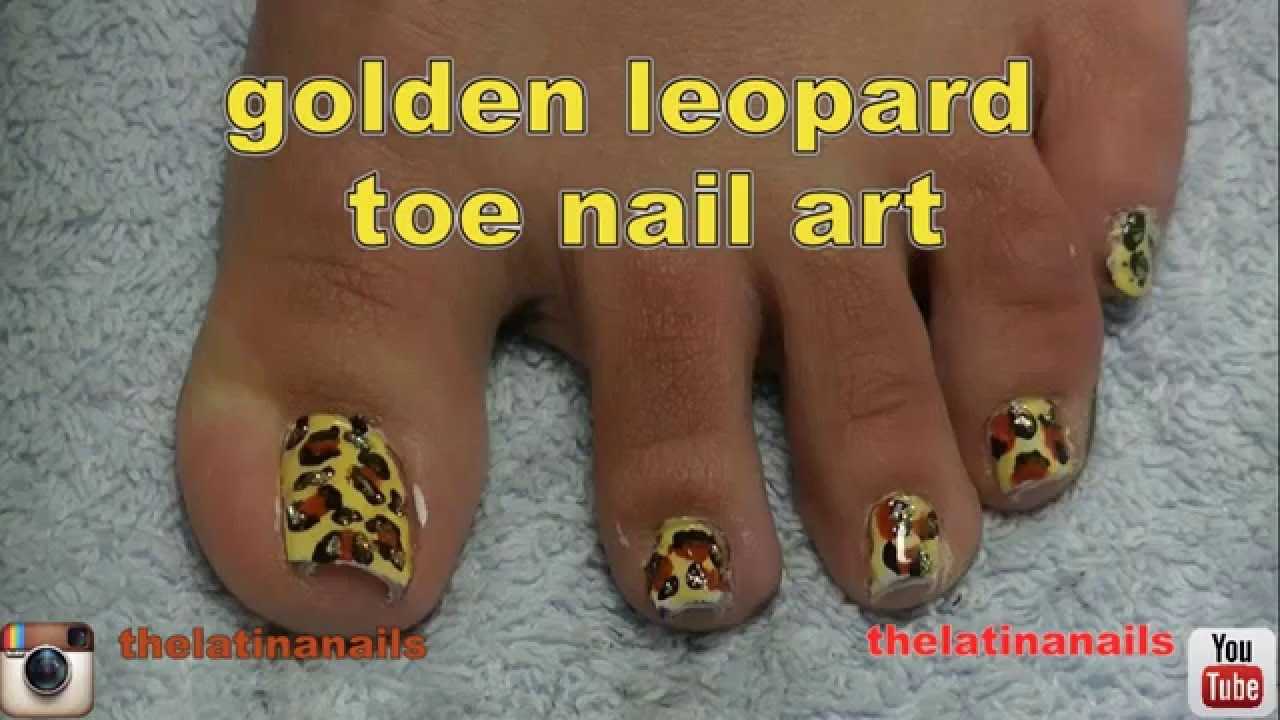 Animal print toe nail art design golden leopard hd youtube animal print toe nail art design golden leopard hd prinsesfo Gallery