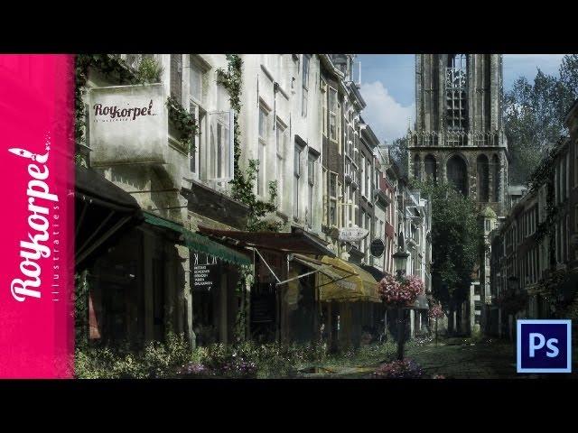 Abandoned city Utrecht - Photoshop speedart - time-lapse
