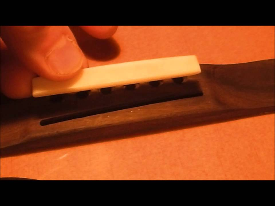 Intonating An Acoustic Guitar With A Custom Bone Saddle Youtube